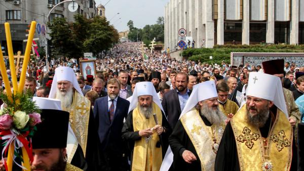 Молебень до Дня Хрещення Русі на Володимирській гірці м. Києва